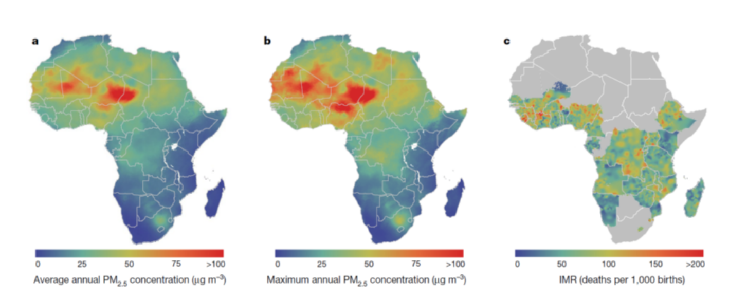 Robust relationship between air quality and infant mortality in Africa