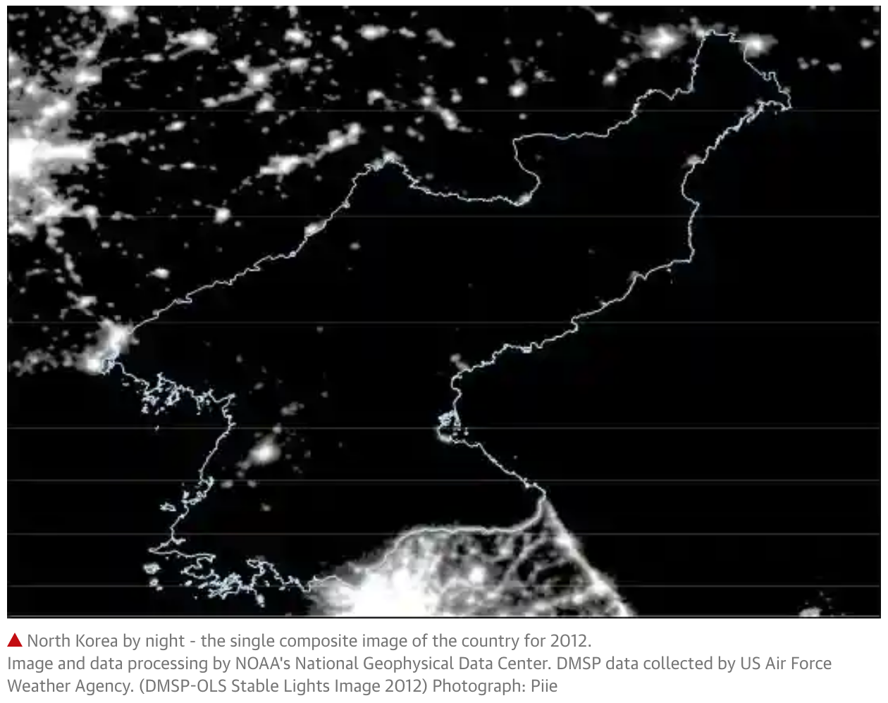 North Korea by night: satellite images shed new light on the secretive state