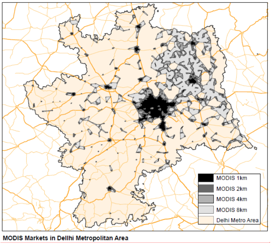 Detecting Urban Markets with Satellite Imagery: An Application to India
