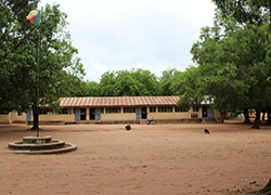 A portrait shot of Kalalé High School, the pilot site for Adida and Burney's project, 'Mobile Money, Schooling and the Poor,' which will launch fall 2015.
