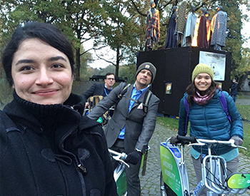 Ambar Valles and classmates at COP23