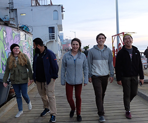 UC San Diego students take a break from fielding research in Tijuana as part of the MMFRP