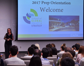 Nancy Gilson welcomes students